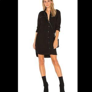 NWT Rails Bowie Studded Shirt Dress In Black